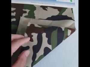 Padrão de camuflagem 8020 tecido de sarja de algodão poliéster para uniforme militar